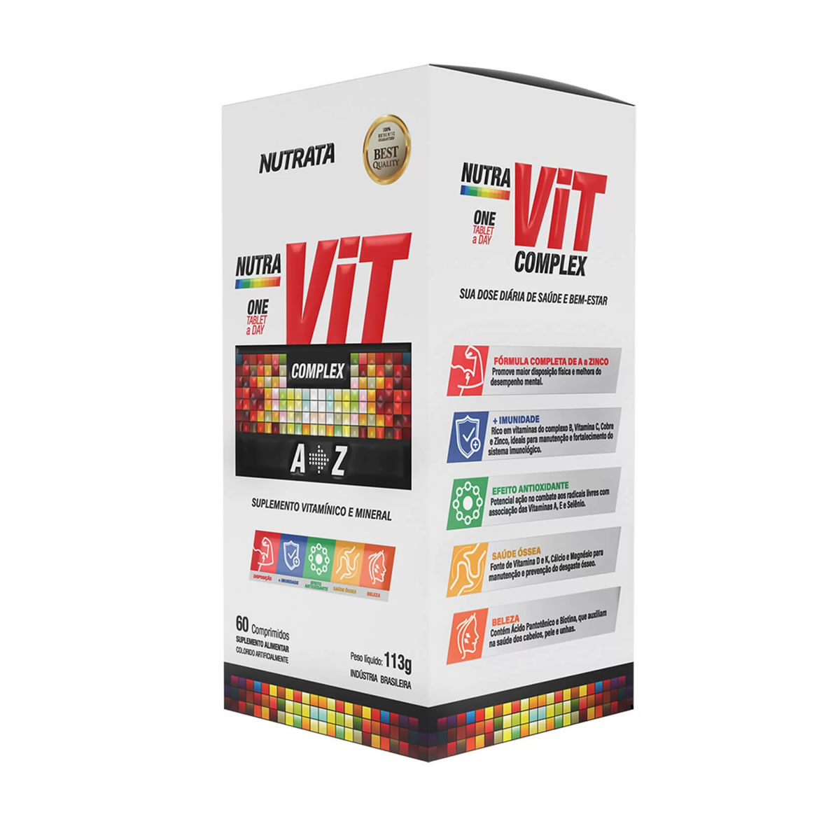 Suplemento Nutra Vit A-Z 1,8mg 60 comprimidos - Nutrata