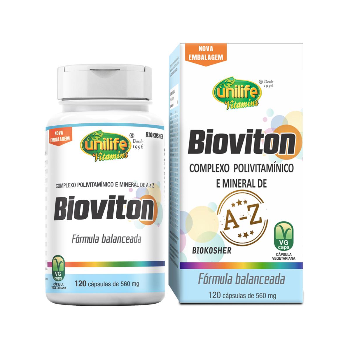 Suplemento Vitamínico Bioviton 560mg 120 Cápsulas - Unilife