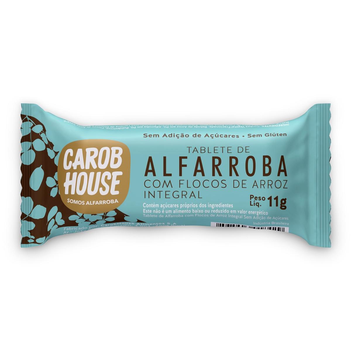 Tablete de Alfarroba com Flocos de Arroz 11g - Carob House