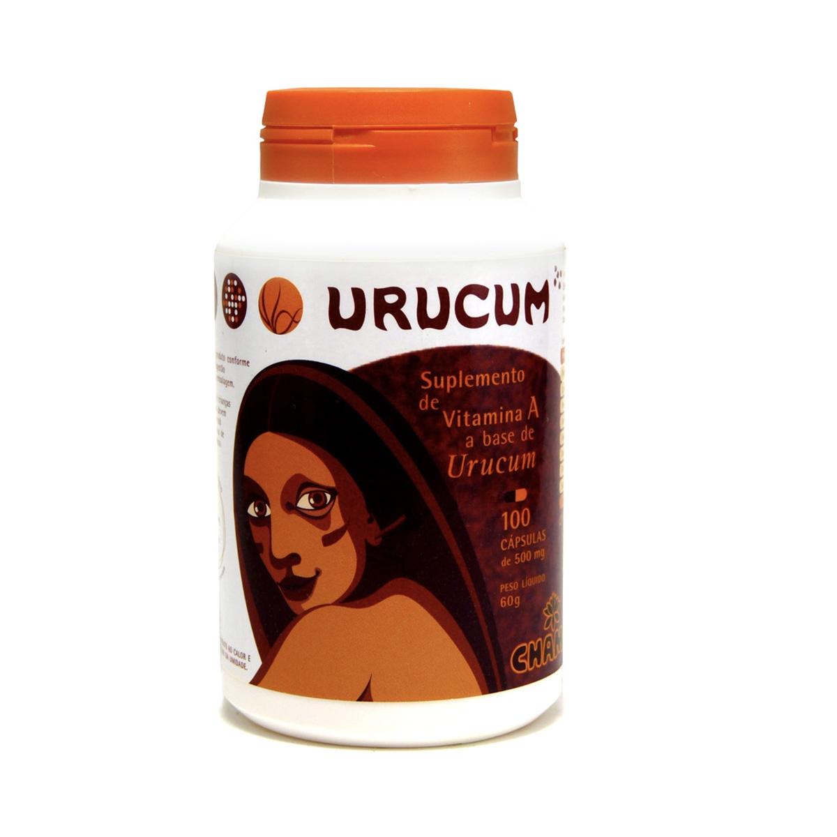 Urucum 500mg 100 Cápsulas - Chamel