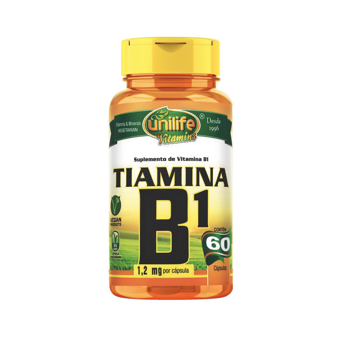 Vitamina B1 500mg 60 Cápsulas - Unilife
