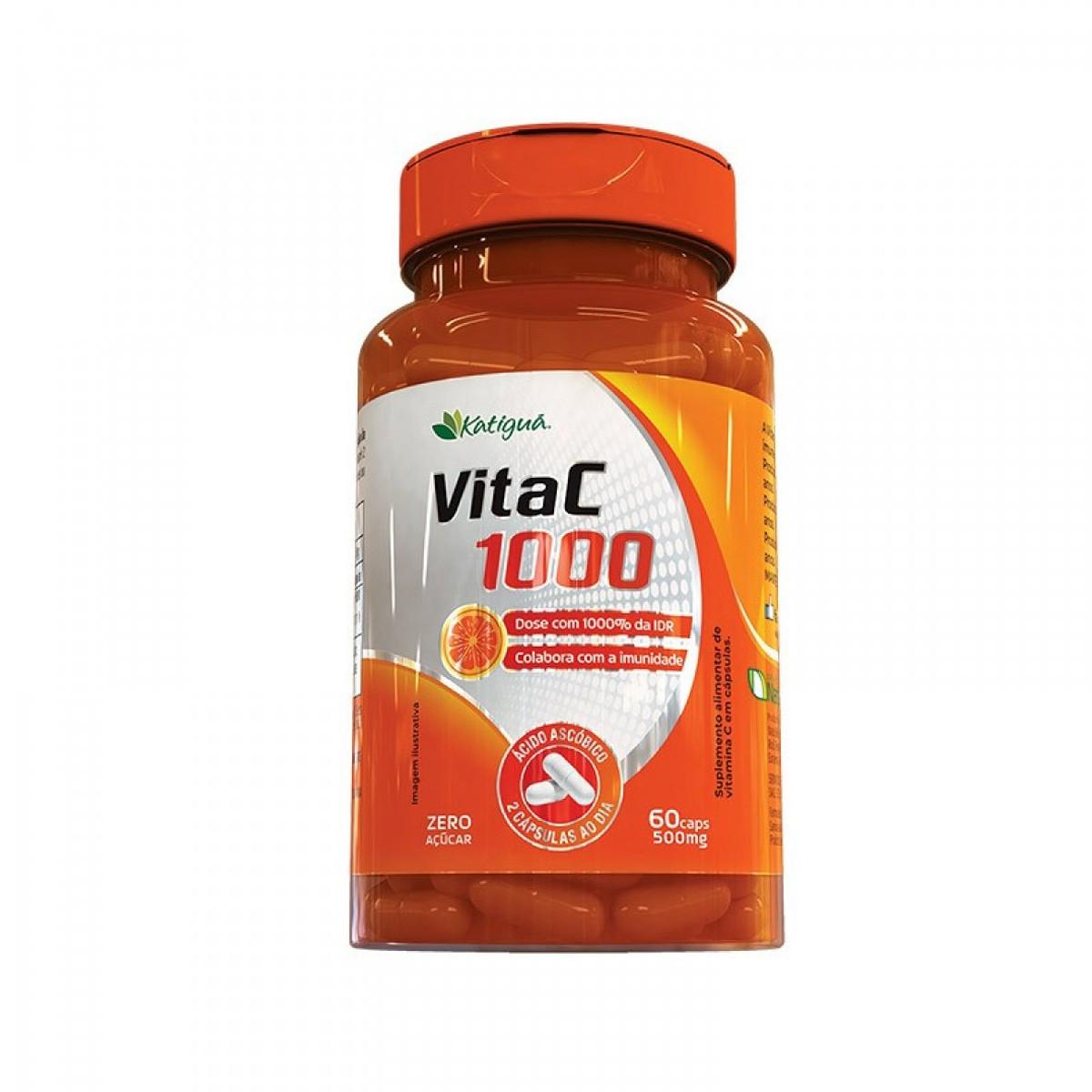 Vitamina C 1000 500mg 60 cápsulas - Katigua