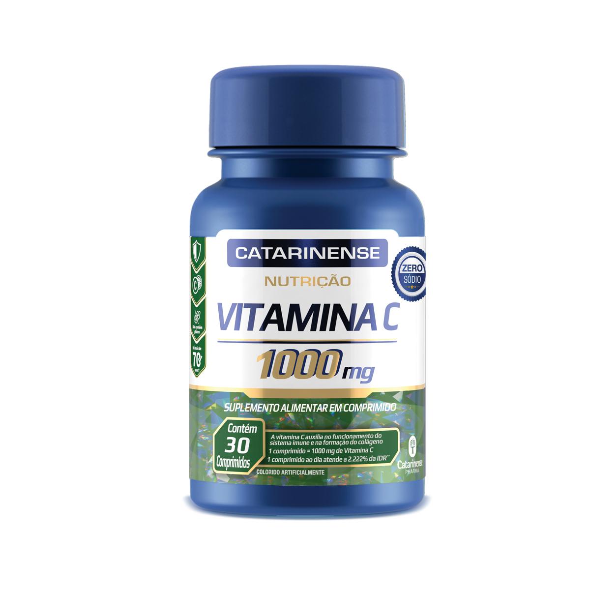 Vitamina C 1000mg 30 Comprimidos - Catarinense