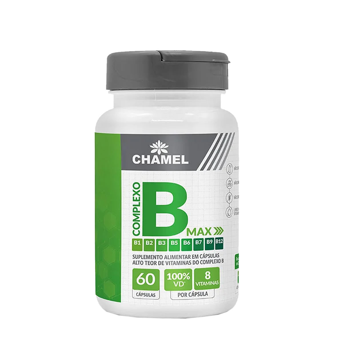 Vitamina Complexo B Max 500mg 60 Capsulas - Chamel