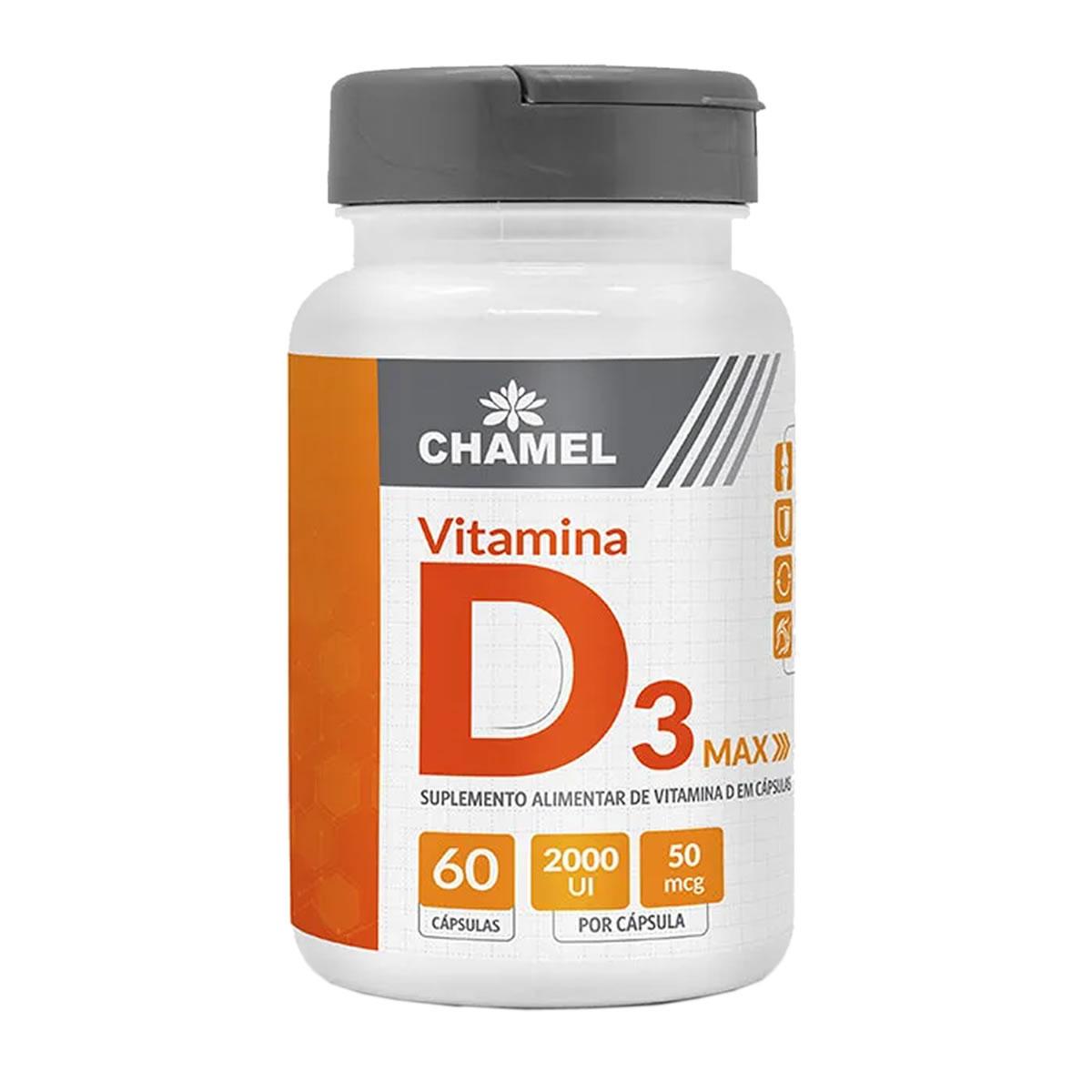 Vitamina D3 Max 500mg 60 Capsulas - Chamel
