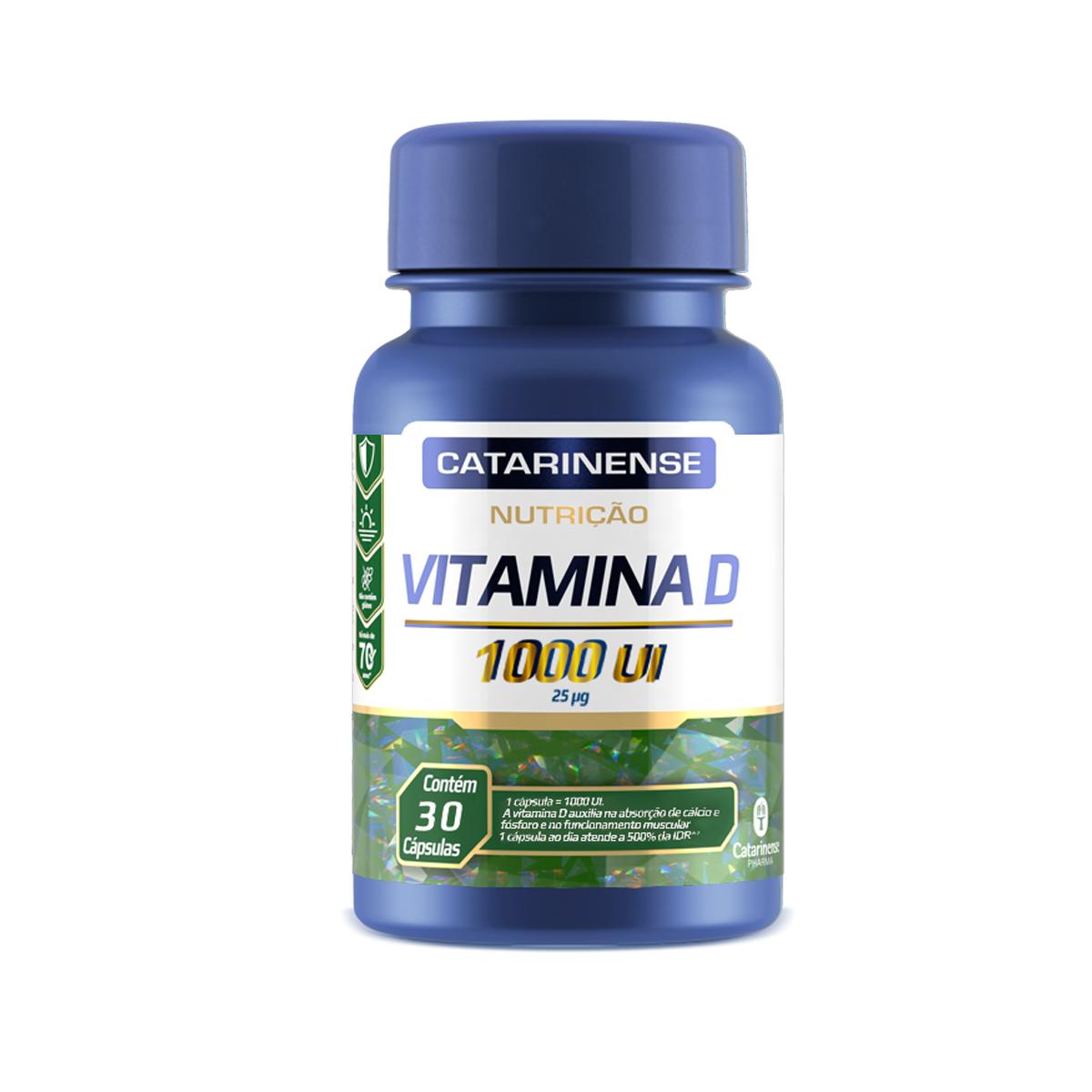 Vitamina D 1000 UI 30 Cápsulas - Catarinense