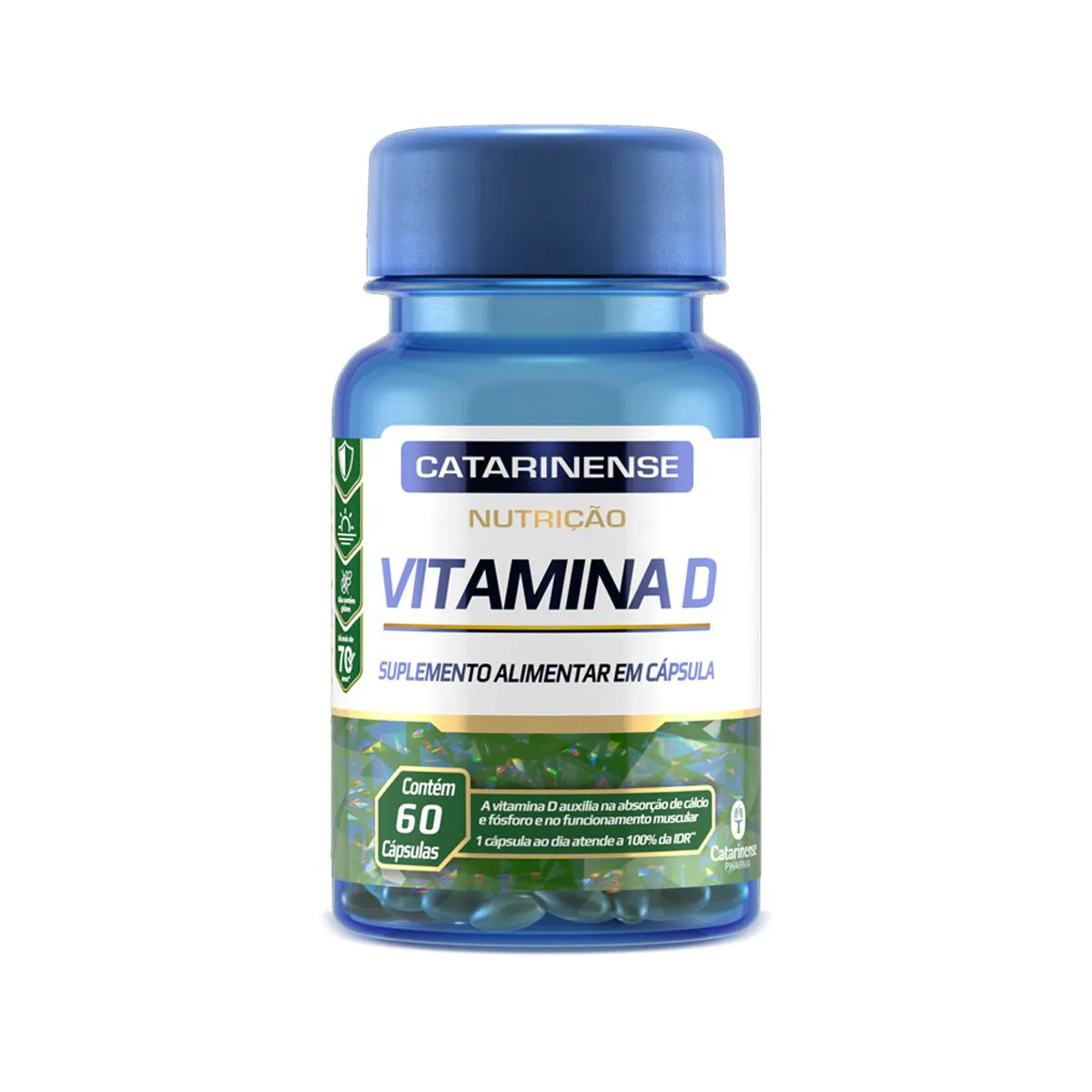 Vitamina D 250mg 60 Cápsulas  - Catarinense