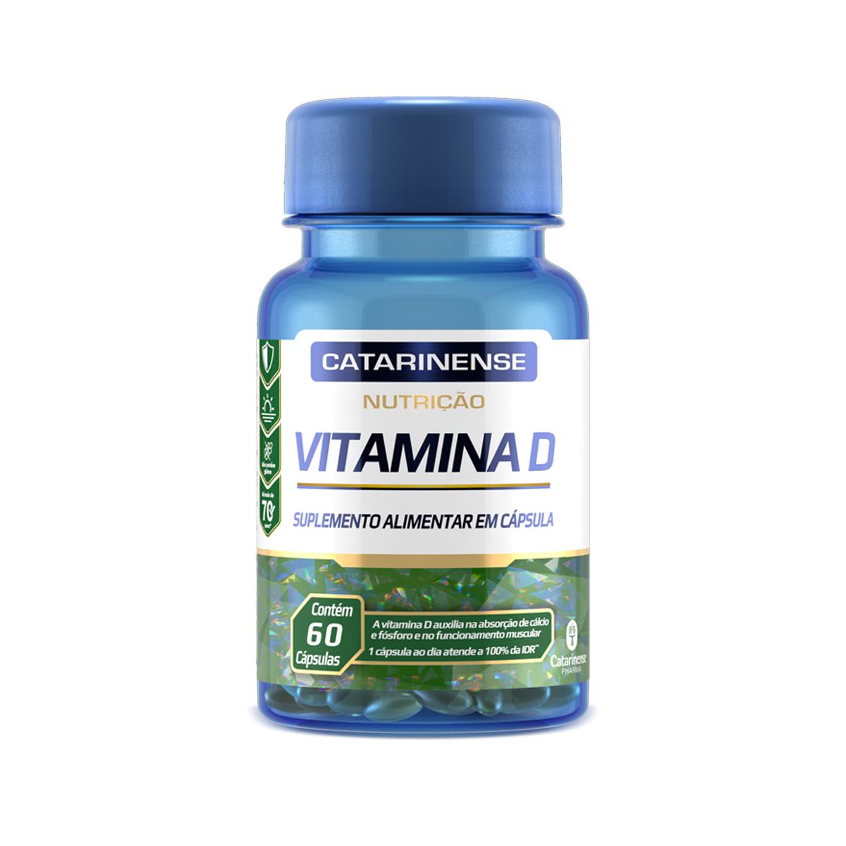 Vitamina D 250mg 60 Cápsulas  - Catarinense