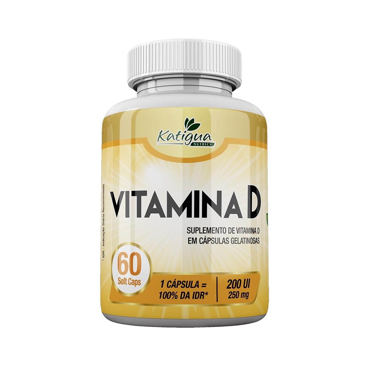 Vitamina D 250mg 60 Cápsulas - Katiguá