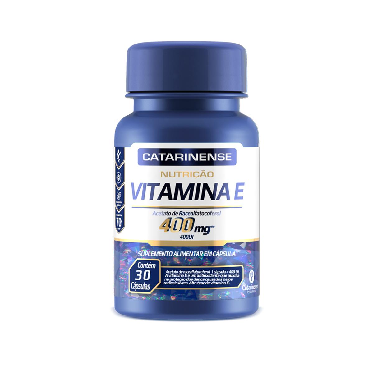 Vitamina E 400mg 30 Cápsulas  - Catarinense