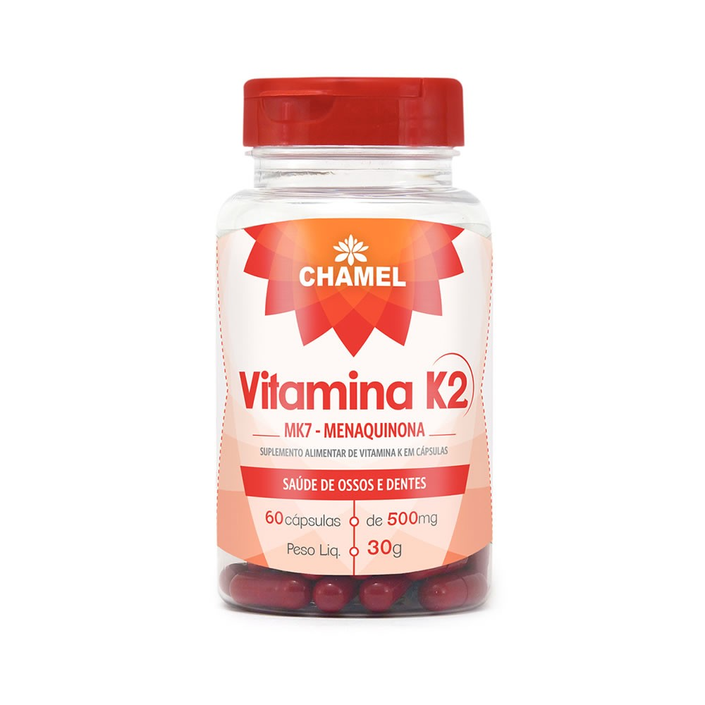 Vitamina K2 500mg 60 cápsulas - Chamel