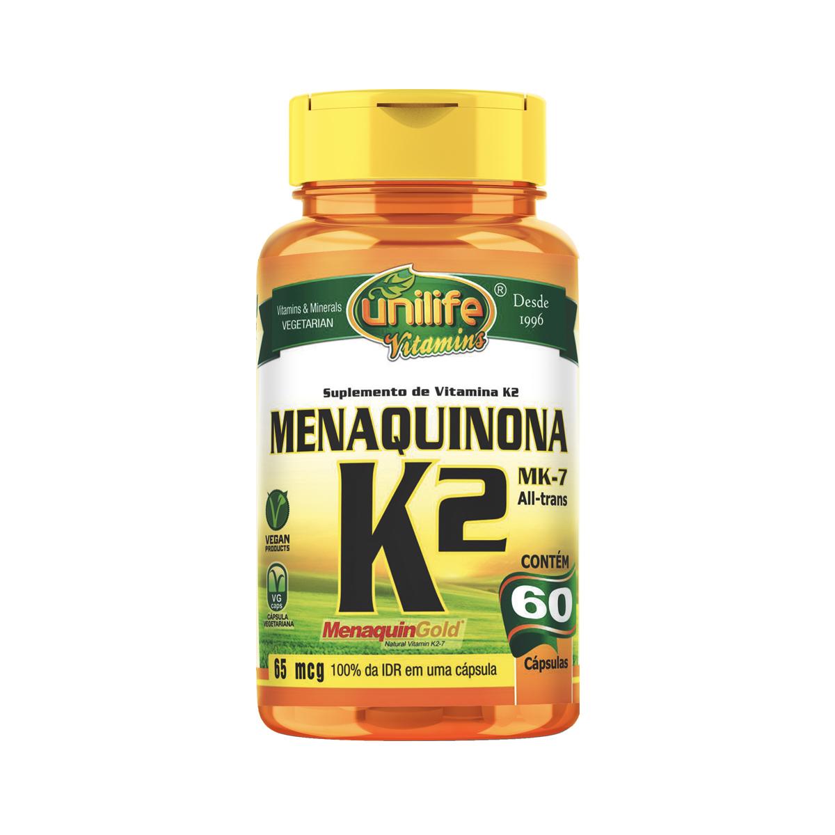 Vitamina K2 500mg 60 Cápsulas - Unilife
