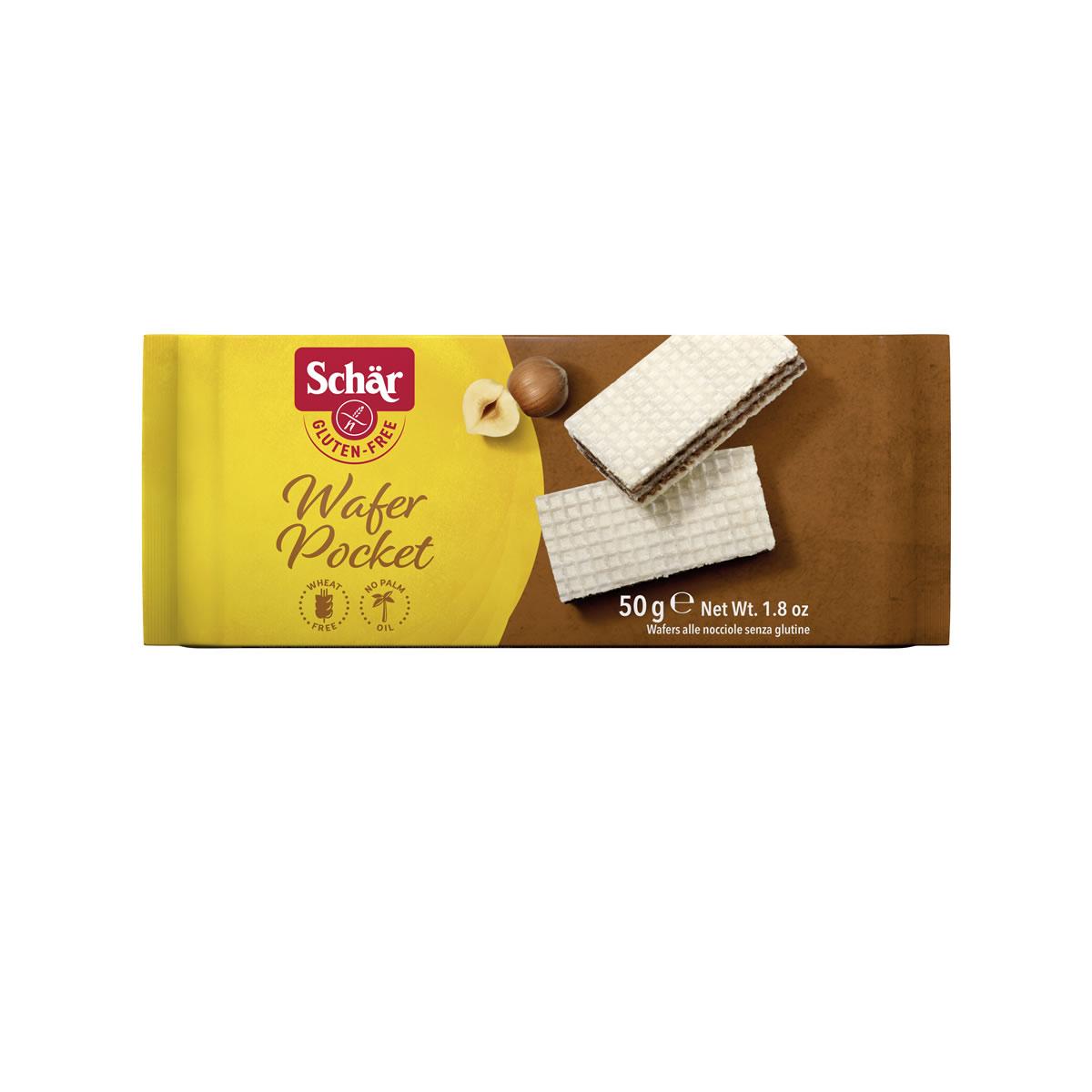 Wafer Pocket Sabor Avelã 50g - Schar