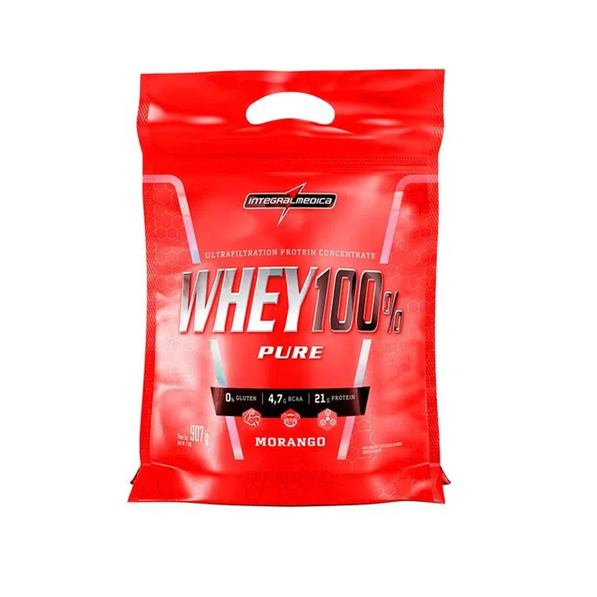 Whey 100% Pure sabor Morango 907g - Integralmedica