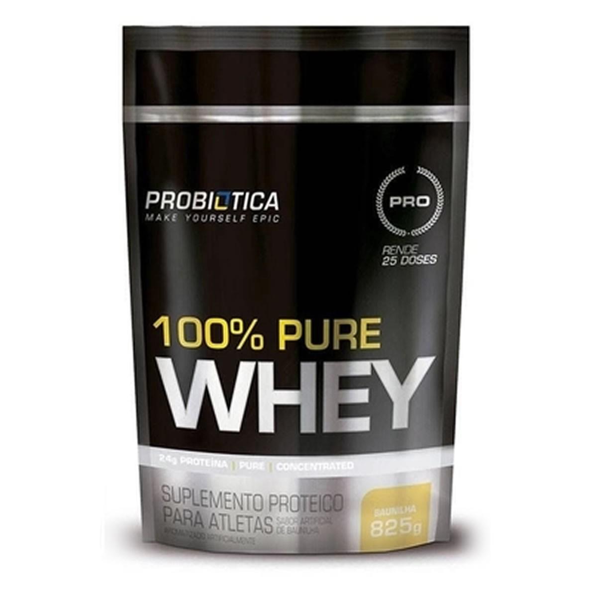 Whey 100% Puro Sabor Baunilha 825g - Probiotica