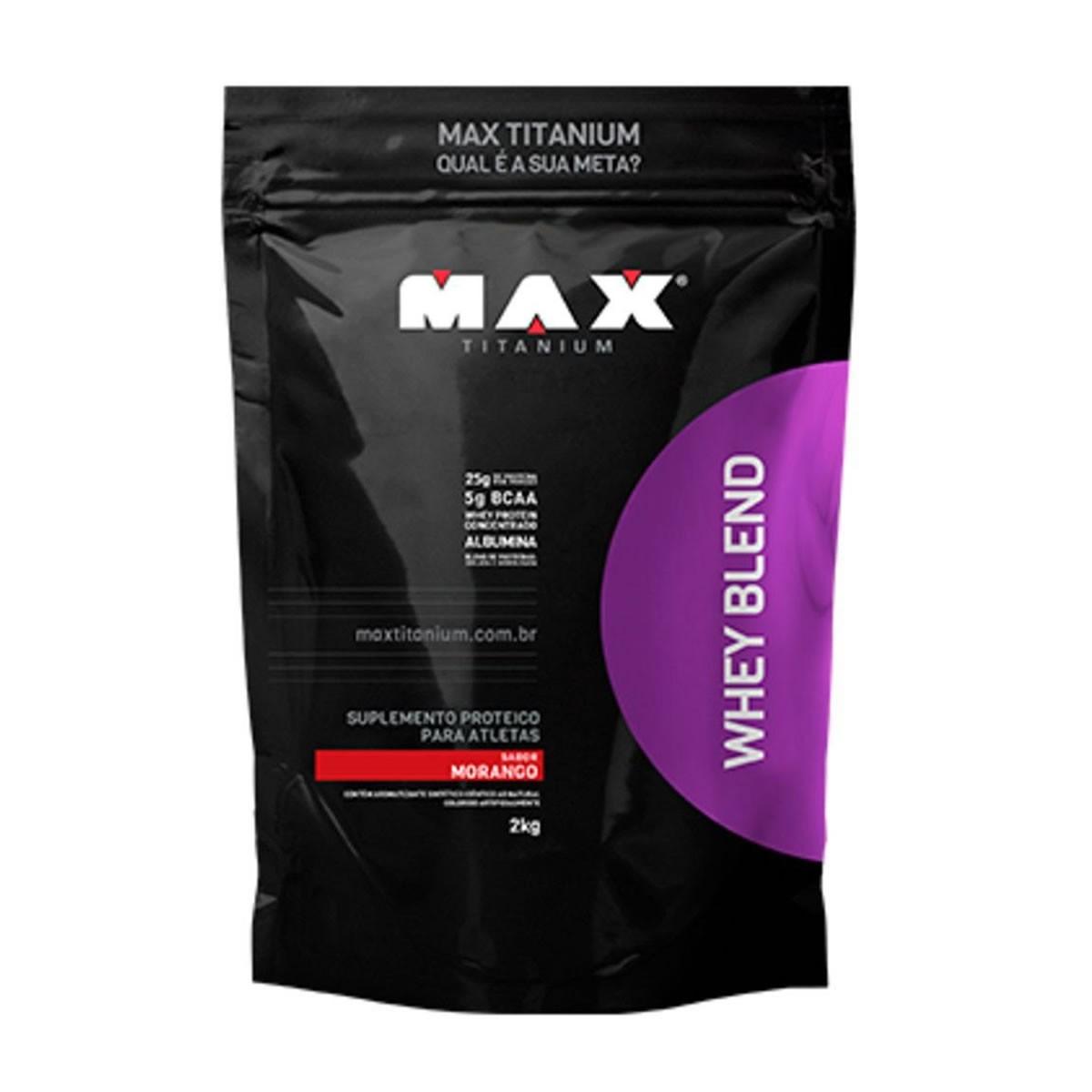 Whey Blend Sabor Morango 2kg - Max Titanium