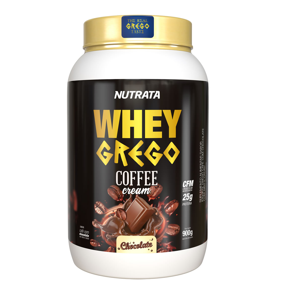 Whey Grego Coffee Cream sabor Chocolate 900g - Nutrata