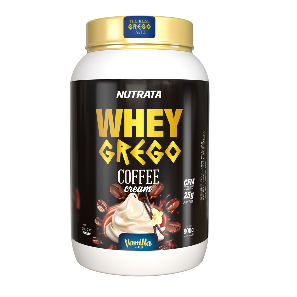 Whey Grego Coffee Cream sabor Vanilla 900g - Nutrata