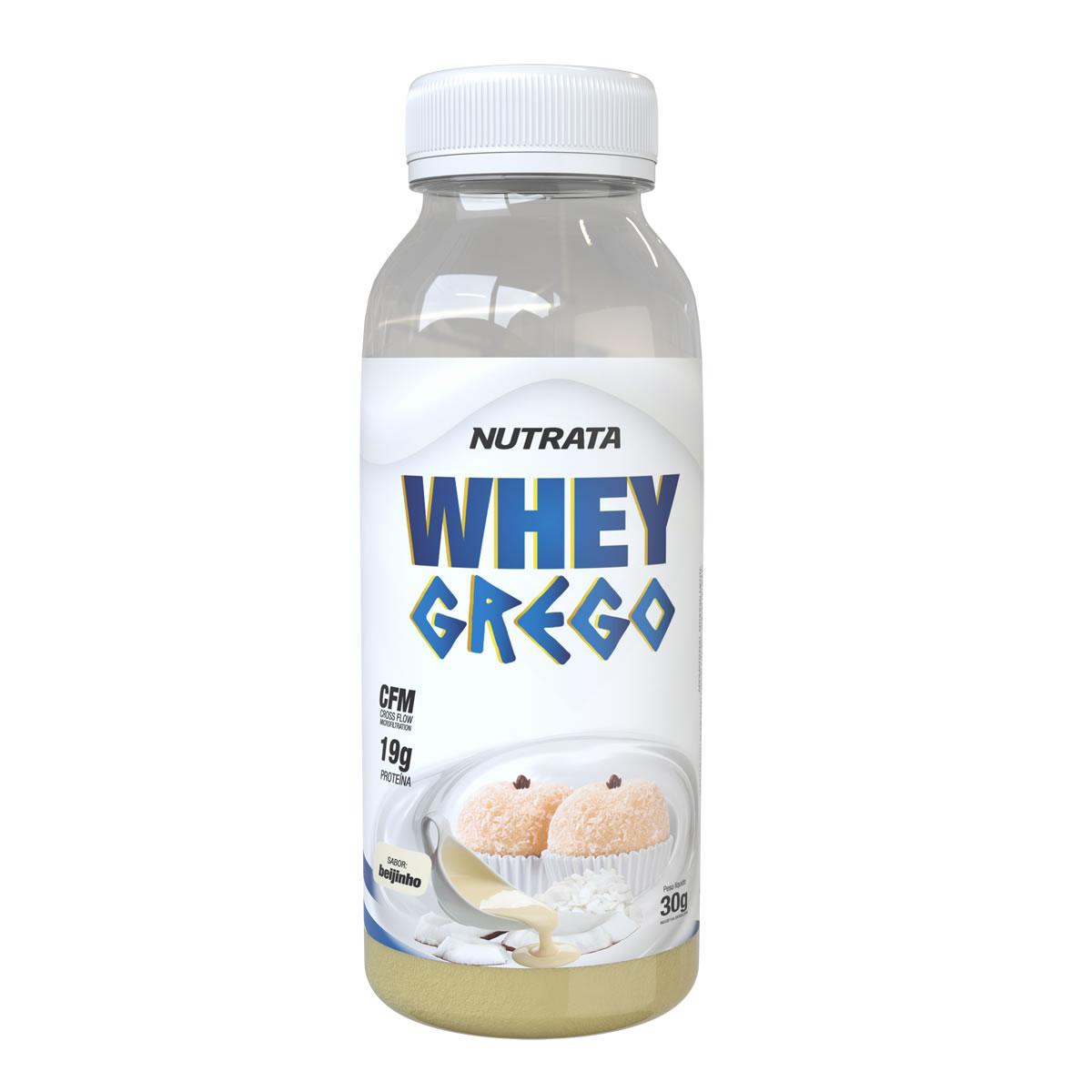 Whey Grego Monodose sabor Beijinho 30g - Nutrata