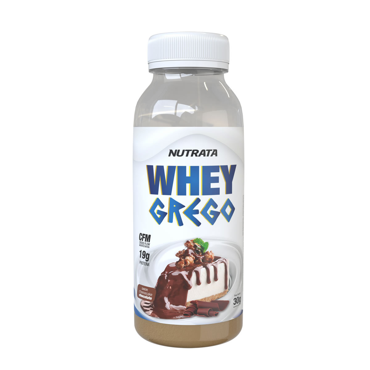 Whey Grego Monodose sabor Cheesecake de Chocolate 30g - Nutrata
