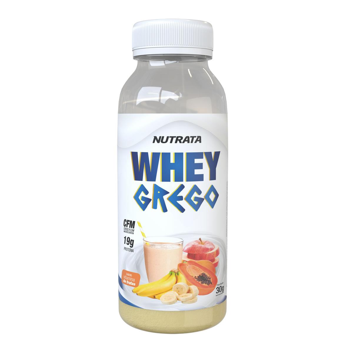 Whey Grego Monodose sabor Vitamina de Frutas 30g - Nutrata