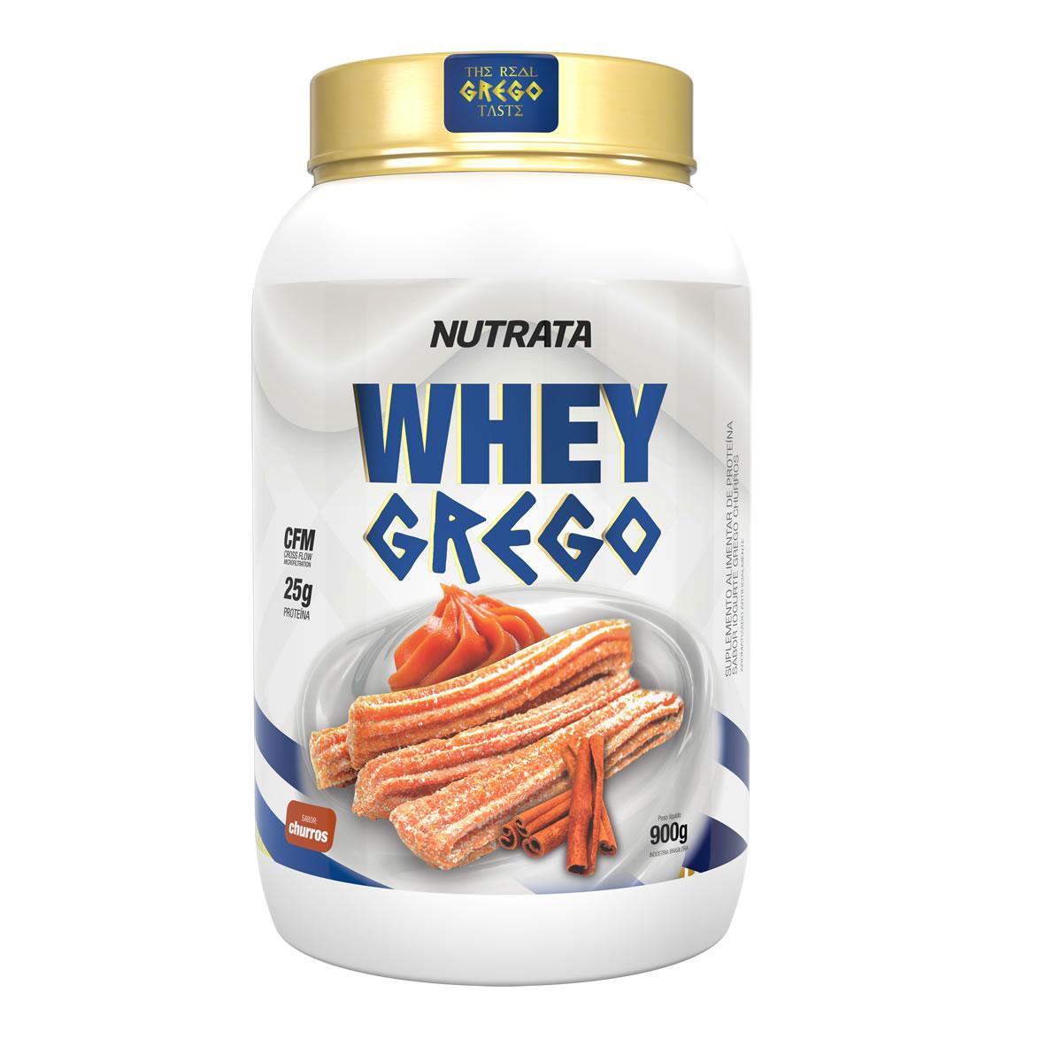 Whey Grego sabor Churros 900g - Nutrata