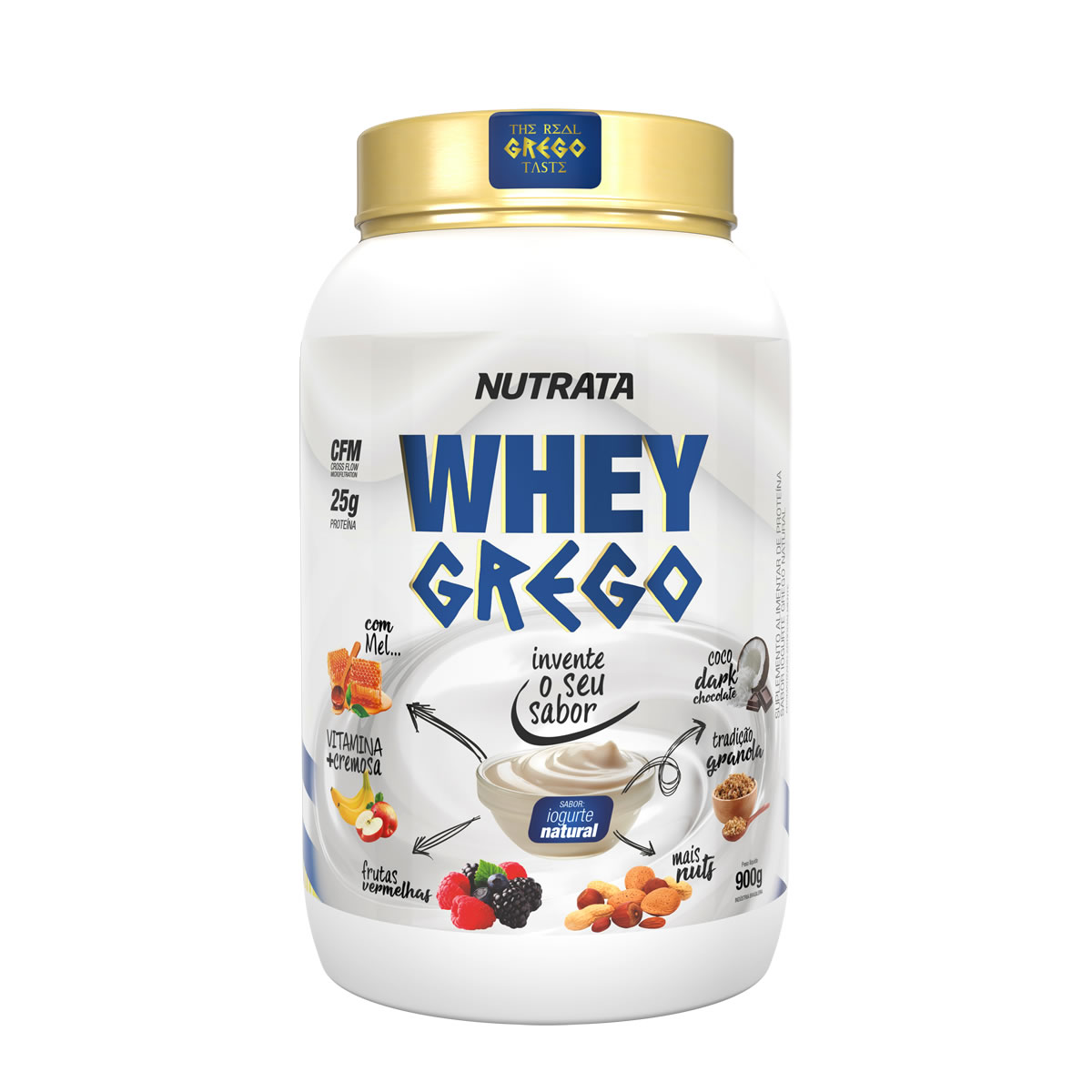 Whey Grego sabor Iogurt Natural 900g - Nutrata