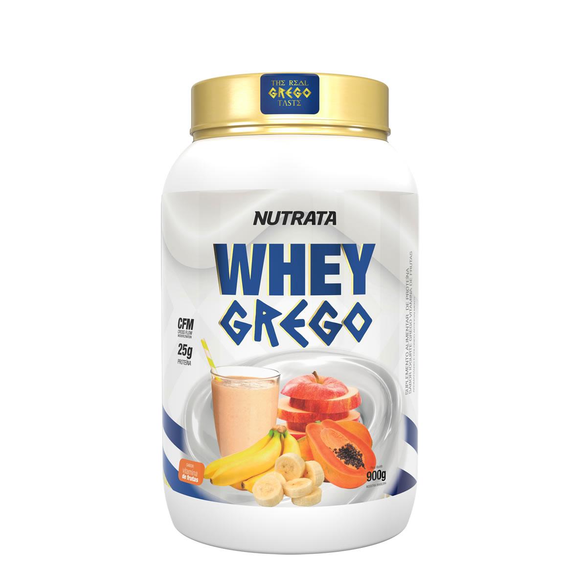 Whey Grego sabor Vitamina de Frutas 900g - Nutrata