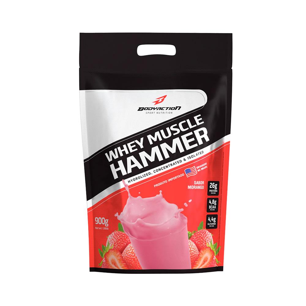 Whey Muscle Hammer Morango 900g - Bodyaction