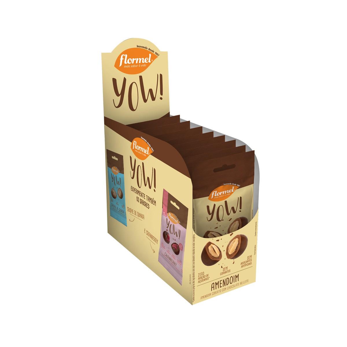 Yow de Amendoim Display com 8 un. de 40g - Flormel