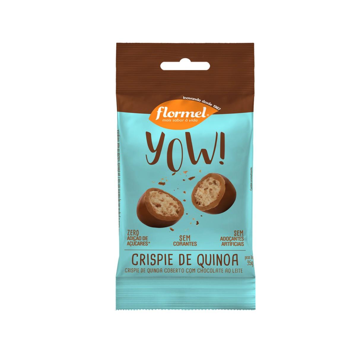 Yow de Crispie de Quinoa com Chocolate de 35g - Flormel
