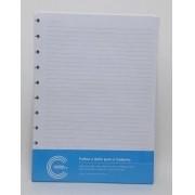Refil Para Caderno Inteligente Pequeno 50 Folhas Pautada A5