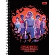 Caderno 2 Capa Dura 10 Matérias Stranger Things 160 Folhas