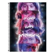 Caderno 3 Capa Dura 1 Matéria Stranger Things 80 Folhas