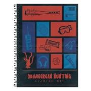 Caderno Capa Dura 1 Matéria Stranger Things 80 Folhas