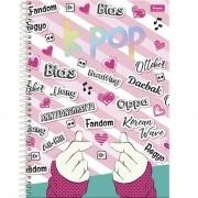 Cadernos K-pop Espiral 200 Folhas K-pop Foroni Palavras