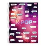 Cadernos K-pop Espiral 96 Folhas K-pop Foroni  mensagens