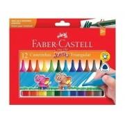 Caneta Hidrográfica Triangular Jumbo 12 Cores Faber Castell