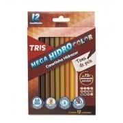 Canetinha Hidrocor Tons de Pele 12 Cores TRIS