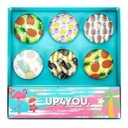 Imã Magnet Boton Frutas Up4you Cores 6 Un