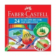 Lápis de Cor Aquarelavel 24 Cores FABER CASTELL