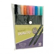 Marcador DualTrip Brush Tons Pastel C/10 BISMARK PK0100D SO YES