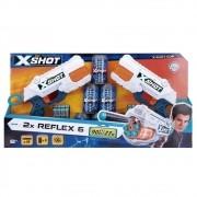 X-Shot Xreflex com 6 Latas 16 Dardos 27 M 5546 CANDIDE
