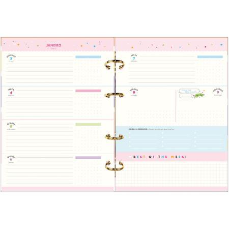 Agenda Planner 2022 Argolado HAPPY 313947 TILIBRA