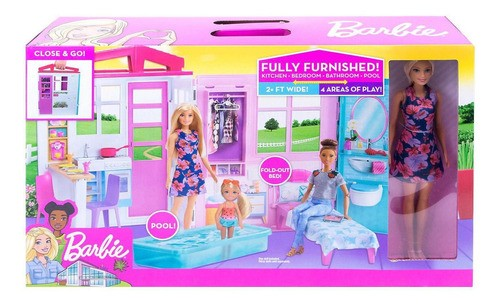 Barbie Real Casa Glam com Boneca FXG55 MATTEL