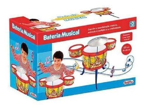 Bateria Musical com 10 peças 9426 ROSITA