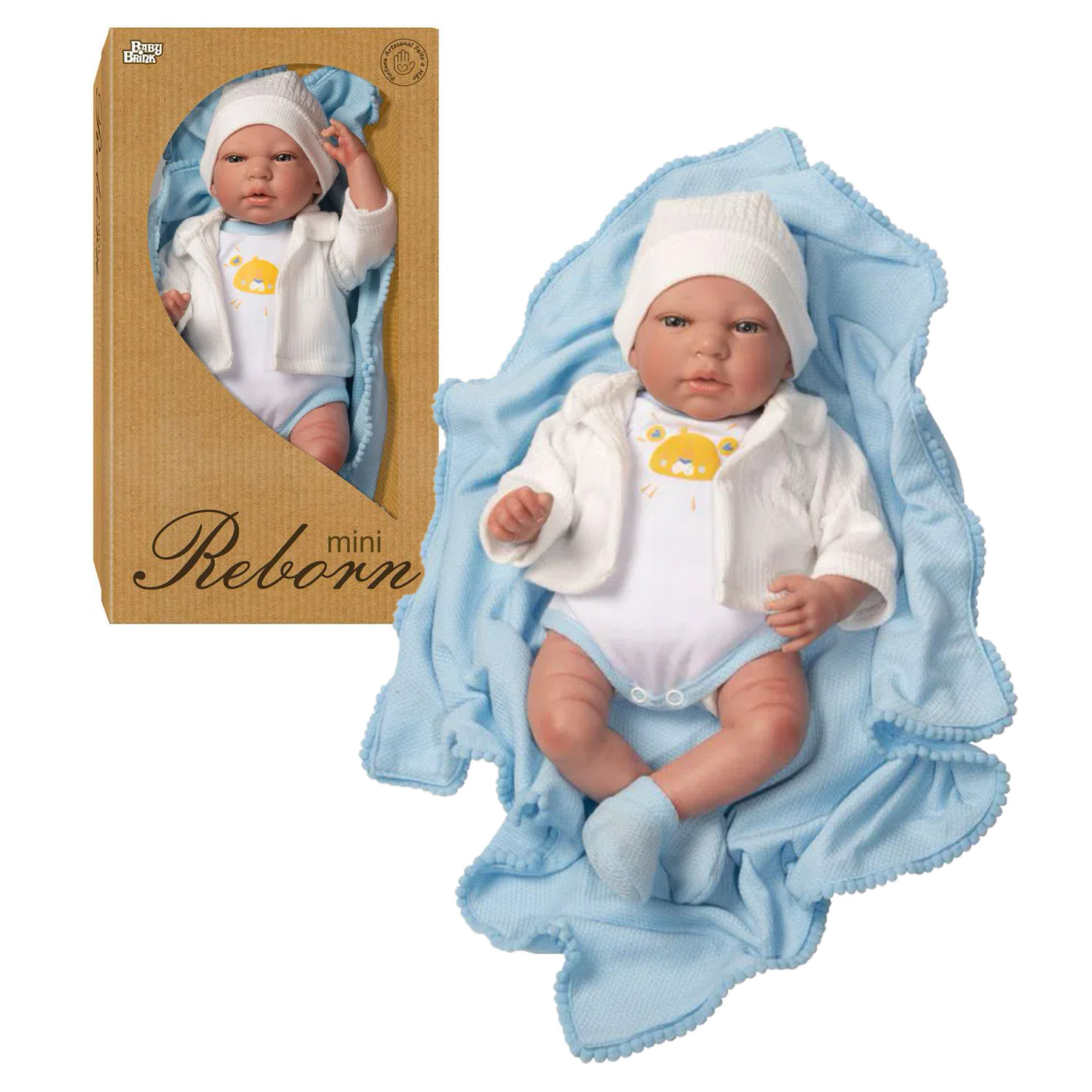 Bebê Reborn Menino 1262 BABY BRINK