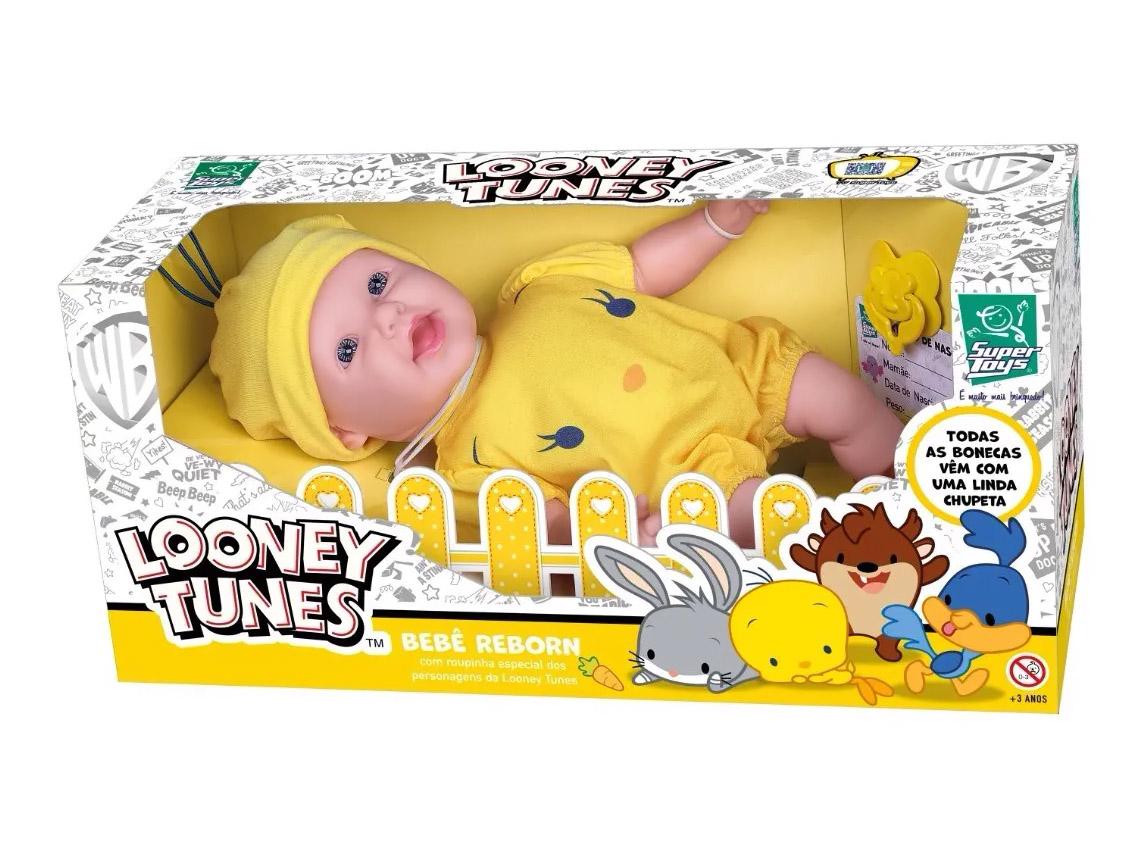 Bebê Reborn Piu-piu Looney Tunes 439 SUPER TOYS