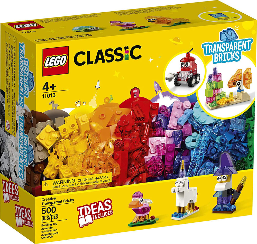 Blocos Transparentes Criativos 500pcs 11013 LEGO