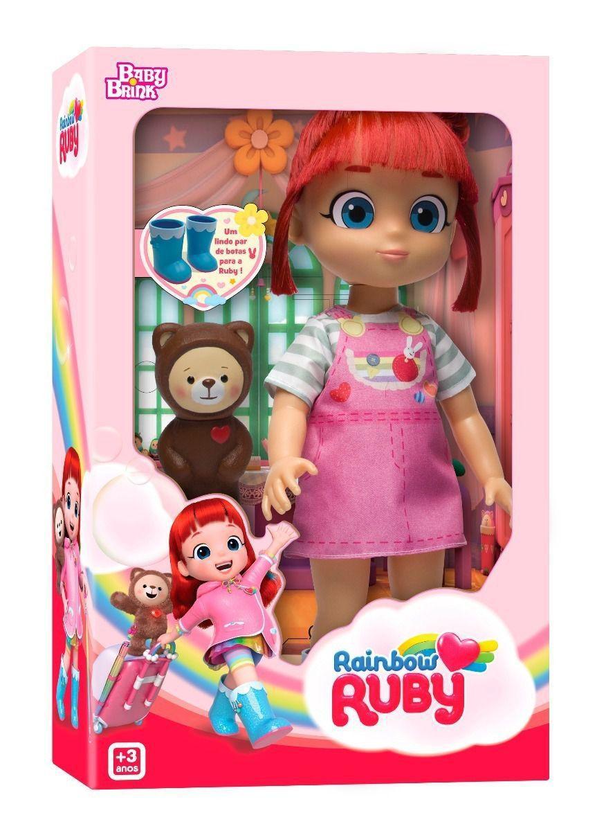 Boneca Rainbow Ruby e Choco 1843 BABY BRINK